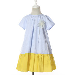 Manchon d'enfants Cap Kids Frocks robes occasionnel d'été pour les Juniors