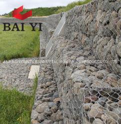 EcoはGabionボックス鉄条網の石のケージシステムに電流を通した