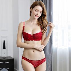 Léger et mince Sexy 1/2 tasse push-up Mesdames sous-vêtements soutien-gorge