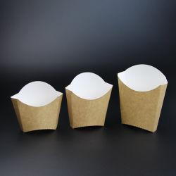 Packpapier-Nahrungsmittelpommes Frites brechen Papierbeutel ab