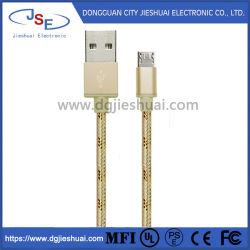 Nylon tressé de synchronisation et charge rapide Câble micro USB pour téléphone mobile