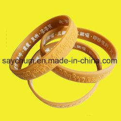 Дешевые пользовательские рекламные силиконовый браслет браслет