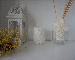Оптовая торговля красивый стеклянный сосуд в форме свечи