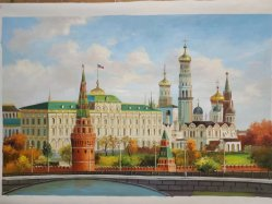 Handmade Rusia lienzo paisaje óleo para la decoración del hogar