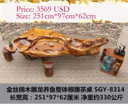 Chinese Folk Sculpture - Kung Fu Table à café de thé