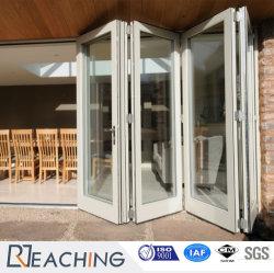 Deslizantes estándar de fábrica de aluminio plegable puerta con cristal de gran parte
