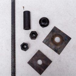 Brücken-Triebwerkzugstange-Durchmesser 20 mm Ende gerollte Stahl des Rebar-500MPa erschwinglich