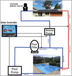 熱いEcoはメキシコ南アフリカ共和国のプールのインポートの製品のための太陽給湯装置を進めた