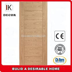 Interior clássico porta de madeira de carvalho Engenharia ranhurada com efeito de painel