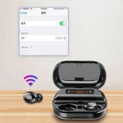 Mini suono stereo senza fili Earbuds dei trasduttori auricolari 3D di Bluetooth dei trasduttori auricolari di Tws V5.0 con il microfono doppio e la casella di carico 1200mAh