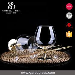 工場価格(GB081906)の茎が付いているブランデーの赤ワインの飲料のガラスコップのための古典的なハンドメイドの無鉛透過クリスタルグラスStemware