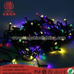 Voyant LED étanche extérieur Fairy Décoration de Noël fil noir du feu de chaîne
