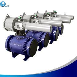 Neumático Eléctrico de gas en el aceite hidráulico accionado con bridas de acero forjado montado en el muñón de control de tipo pelota parada de emergencia de la válvula de cierre de la EDS Esdv