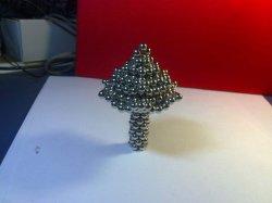 De permanente Magneten van het Gebied van het Neodymium hopen Ballen van de Magneet van de Kubus van 5mm Nano op