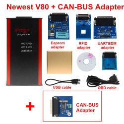 Novíssimo Iprog+ Chave do carro Programmer suporta IMMO + quilometragem + Airbag Reset Iprog correcção pro até 2019 Substituir Carprog/Digiprog/Tango