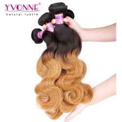 Neue Form peruanisches farbiges Remy Haar einschlagOmbre Karosserien-Wellen-Haar