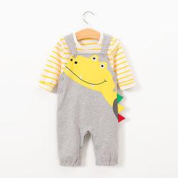 Cute Baby Boy 2piezas conjuntos de ropa de manga larga Tshirt+Alligator monos para la primavera y otoño ropa