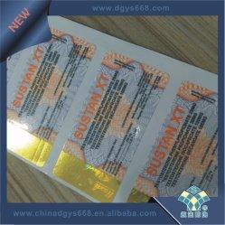 L'estampage à chaud feuille de papier autocollant de sécurité