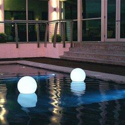 Jardim exterior LED Recarregável Luz paisagem à prova de RGB de Controle Remoto