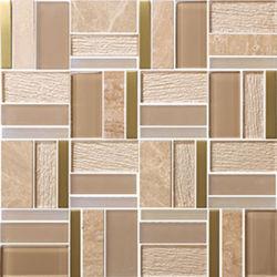 Bela decoração do Hotel vidro padrão de mosaicos de parede