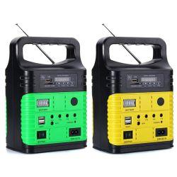 FM 라디오 Sre-3790를 가진 7500mAh 리튬 건전지 태양 에너지 시스템을%s 10W 휴대용 소형 태양 램프