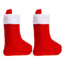 Weihnachtssocken-Form-Gabel-Paket-Speicher deckt Beutel-Weihnachtsdekoration-weiche angefüllte Plüsch-Spielwaren ab