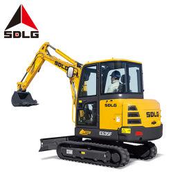 Sdlg E635f 3.5T pequenas fluorescente compacta escavadora de rastos importados com motor e bomba para diferentes condições de trabalho