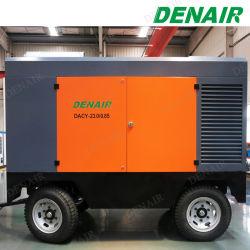 8bar/460cfm de remolque portátil Diesel compresor de aire de tornillo que se utiliza para la minería