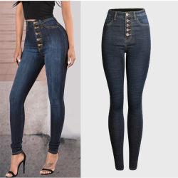 5% de desconto esticar Skinny de cintura elevada mulheres jeans/Senhoras Jeans Denim