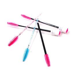 Maquillaje de pestañas desechables PINCELES APLICADORES de tubo de cristal Glitter Mascara varitas