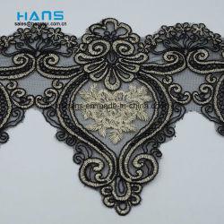 Hans Custom New Design Embroidery Kant op Organza