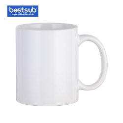도매 Bestsub는 11 Oz 백색 사진 세라믹 커피잔 승화 열 압박 330ml를 습격한다