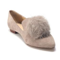 De la mujer arco cómodo Toe Punto de resbalar en el Ballet Flat Zapatos de Vestir