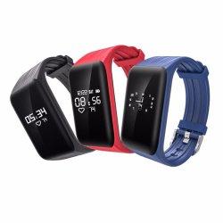 Het slimme Horloge In real time van de Drijver van de Monitor van het Tarief van het Hart van de Armband IP68 Waterdichte K1