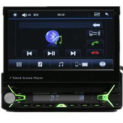 7 stereotipia dell'automobile di BACCANO della macchina fotografica di retrovisione di sostegno del giocatore dell'apparecchio radioricevente MP3/MP4/MP5 dell'automobile FM di Bluetooth Aux/USB/TF dello schermo di tocco fuori HD TFT di pollice di vibrazione singola