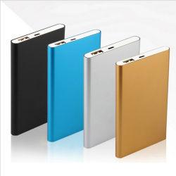 Support de vente à chaud logo personnalisé Mini Banque d'alimentation 5000mAh Chargeur Mobile Powerbank, cadeau promotionnel Banque d'alimentation