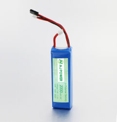 Ce/CB/UL/RoHS/Un38.3のRC Model/RC Car/RCのおもちゃのための2000mAh 3cの排出のレートのリチウムポリマー李ポリマー電池