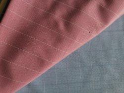 Полиэстер хлопок W10 одежды Slub проверки футболка ткань