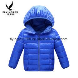 Детский / детей Ultralight колпачковая утка вниз куртка Packable Puffer