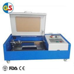 Aprovisionamento de fábrica de tubos de vidro de CO2 Mini máquina de gravação a laser