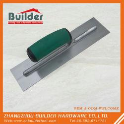 カスタム手はプラスチックハンドルが付いている煉瓦工のステンレス鋼の塗るこてに用具を使う