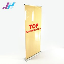 広告用の格納式ワイドベースアルミニウムディスプレイロールアップバナースタンド