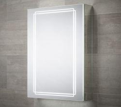A medicina de alumínio armário com espelho retrovisor banho armário com prateleiras de vidro ajustáveis armário de casa de banho de montagem em superfície ou Embutida