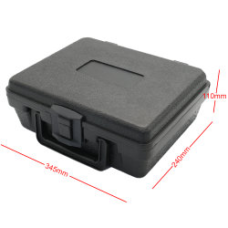 El equipo de plástico moldeado por soplado con bloqueos de duraderas y Hard Shell instrumento caso