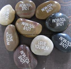 Mot d'inspiration de galets de rivière gravé Stone