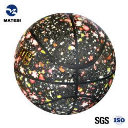Nuovo pallacanestro della sfera di sport laminata dell'unità di elaborazione del PVC del bene durevole di stile cuoio promozionale