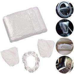 高品質使い捨て可能なプラスチック防水LDPEの自動車の付属品のカーケアきれいなキットのカー・シートカバー