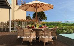 Ensembles de salle à manger extérieure de jardin meubles de patio de l'Hôtel Restaurant des chaises en rotin