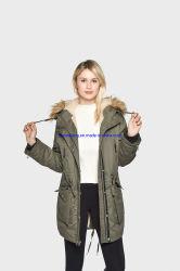Las niñas personalizado de estilo clásico de otoño invierno largo Puffer encapuchados trinchera Down chaquetas