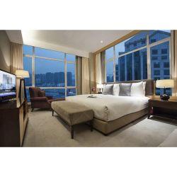 Eenvoudig Commercieel Red Oak Materiaal Hotel Slaapkamer Ontwerp